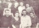 Август 1947 Замятин АН Кудряшова НА Блюм ВД Гуяева РС Еричева Нина Ушакова Катя Южкова Галя Ковзель Верв