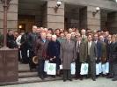 Ветераны завода 2004 г. после торжественного заседания посвященного 40 летю доставки первой тюменской нефти на Омский НПЗ