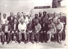 Члены Государственной приемной комиссии первой плавучей электростанции 1969 г Сидят слева четвертый председатель - Вишняков второй главный конструктор проекта Циганков ПИ третий Потапов ПП