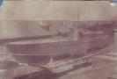 Торпедный катер на платформе перед отправкой